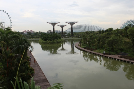 Gardens by the Bay - view from the bridge