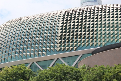 "My favorite building in Singapore - The Esplanade. It is an arts venue and is sometimes called ""The Durian"""