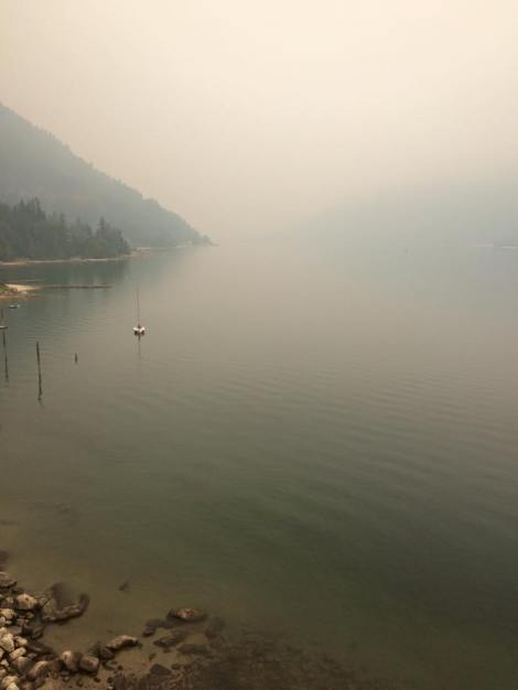 Smoky cos of wildfires coming from the US. Crazy!
